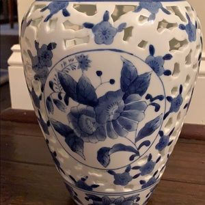 Accents - Blue and White Vase made in China